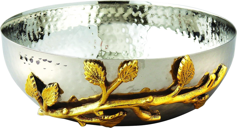 Elegance Golden Vine Hammered Portland Mall Stainless 6.5-In Bowl online shop Salad Steel