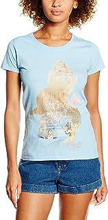 Disney Princess Filled Sillhouette Belle T-Shirt Femme