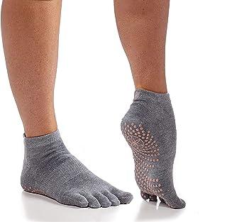 gaiam, Gaiam Calcetines de yoga – Grippy antideslizante pegajosos dedos del pie completo accesorios para mujeres y hombres