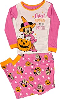 Minnie Mouse Pajamas 2-Piece Halloween Glow in The Dark PJ Set for Toddlers