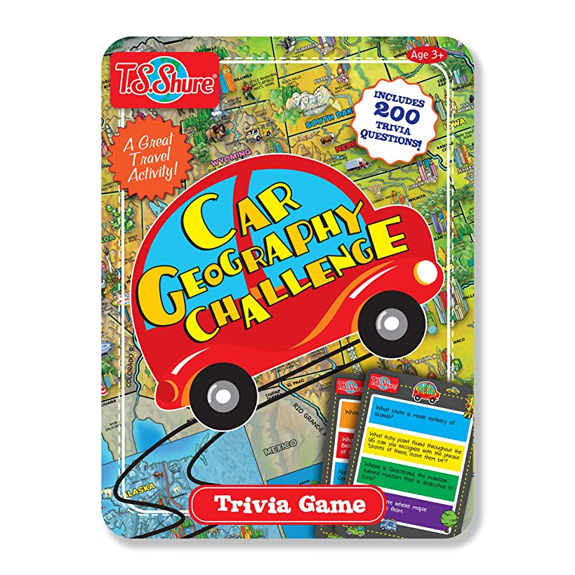 T.S. Shure Car Geography Challenge Magnetic Trivia Game