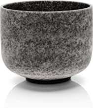TOPFUND Crystal Singing Bowl D Note Sacral Chakra Obsidian Fusion 12 inch (O-Ring and Rubber Mallet Included)