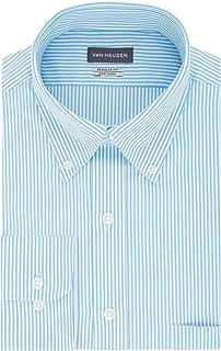 Men's Dress Shirt Regular Fit Pinpoint Stripe
