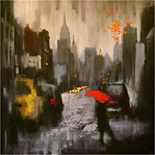 Trademark Fine Art Rainy Day Walker by Chin H. Shin, 35x35, Multiple Colors