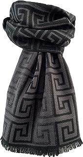 Écharpe en soie pour homme - Double face - Bicolore - Pietro Baldini - En soie - Pour homme (écharpe réversible gris clair)