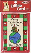 Crunchkins Crunch Edible Card, Marry Christmas Best Dog In The World