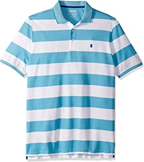IZOD Men's Tall Big Fit Advantage Performance Striped Polo Shirt