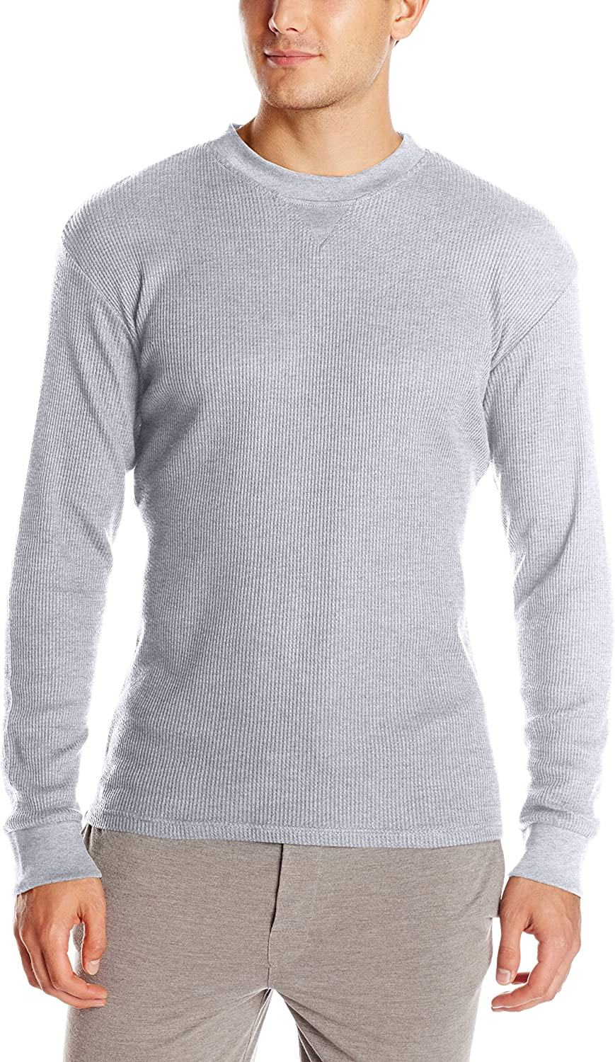 Essentials by Seven Apparel Men's Thermal Crew Neck Shirt
