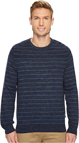 Nautica - 9 Gauge Stripe Crew Sweater