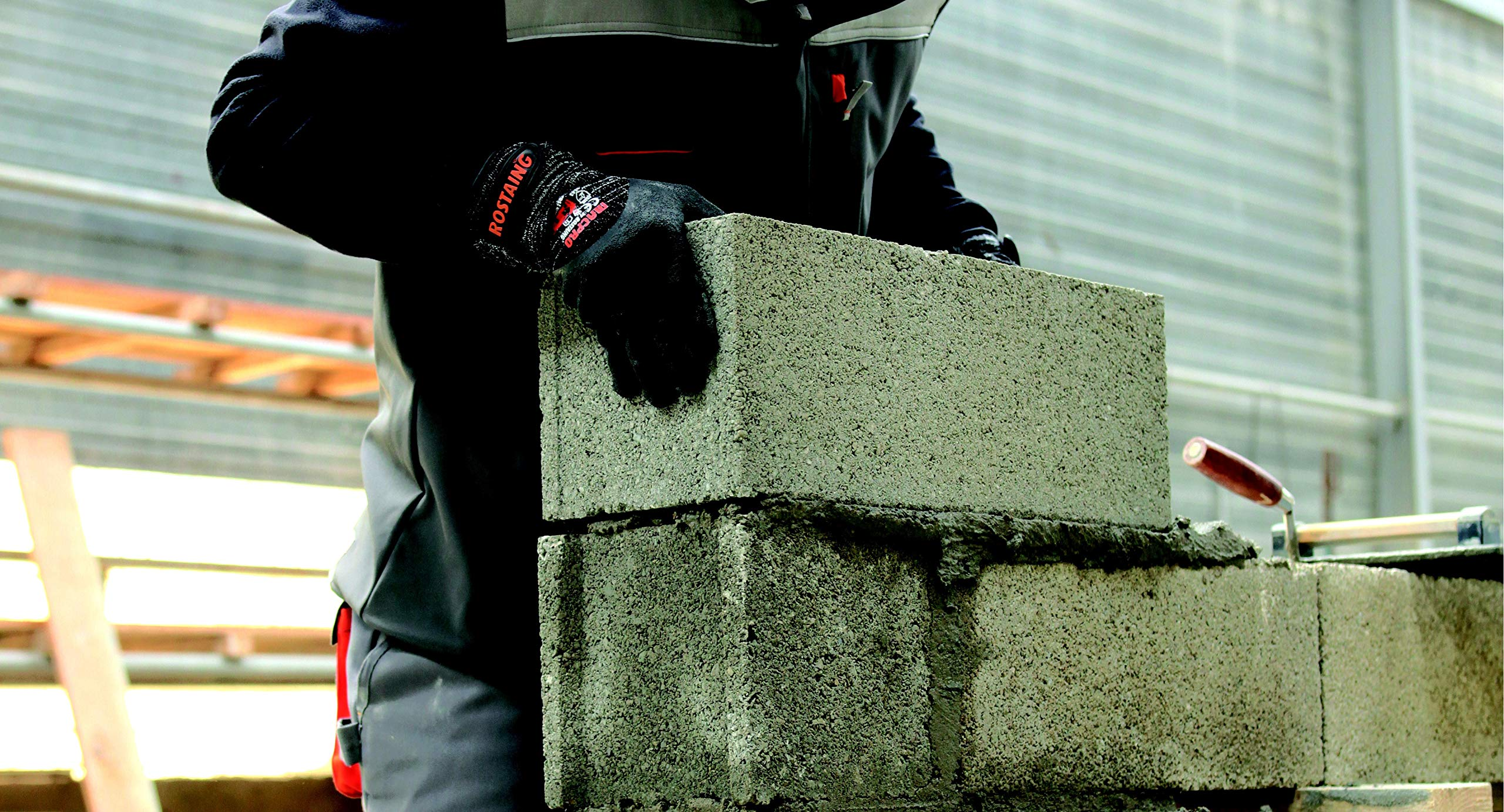 Etanche 3//5 ROSTAING MACPRO//IT09 Gants PROtravaux Construction R/ésistant /à la coupure 09 Noir