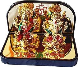 Laxmi with Ganesha Idol Statue for Diwali Pooja | Lakshmi with Ganesha Idol for Home Office Temple Mandir Figurine Murti P...