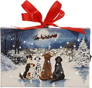 RAZ Imports Dogs Watching Santa Ornament