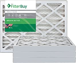 FilterBuy 28x30x2 MERV 8 Pleated AC Furnace Air Filter, (Pack of 4 Filters), 28x30x2 – Silver