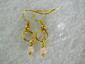 Phoebe's Earrings. Quartz in gold plated drop earrings.