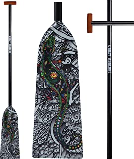 CRAZY ABALONE Sport IDBF Approved Carbon Fiber Vitality Dragon Boat,Hybrid Paddle with T Handle