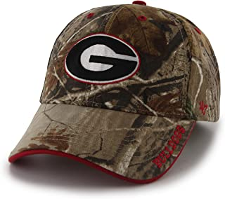 '47 NCAA Georgia Bulldogs Frost MVP Adjustable Hat, One Size, Realtree Camouflage