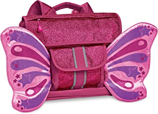 Bixbee Kids Backpack, Sparkalicious Ruby Raspberry Butterflyer