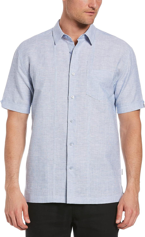 Cubavera Men's Standard Short Sleeve L/C One Pocket W/Tucks Shirt