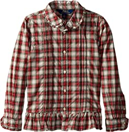 Polo Ralph Lauren Kids - Tartan Cotton Shirt (Little Kids)