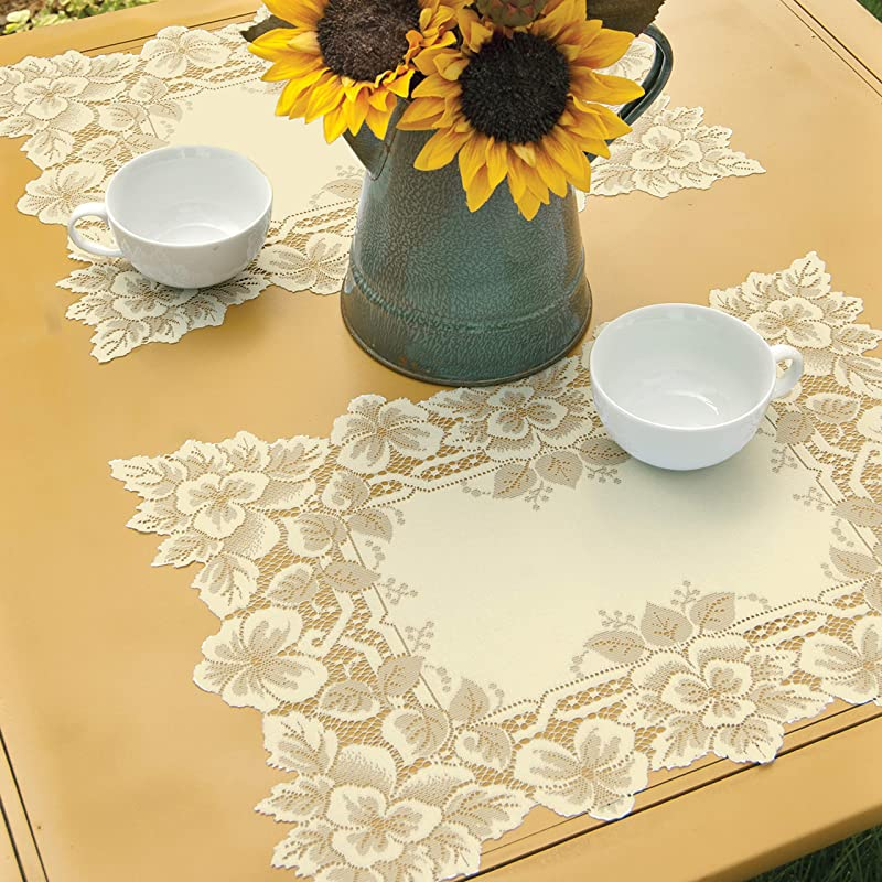 Heritage Lace Heirloom Placemat 14 X 20 Ecru