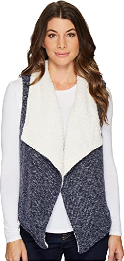 Corded Sweater Knit Reversible Vest