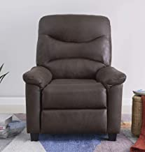 BANTIA FURNITURES PVT BANTIA FURNITURES Venice Recliner Single Seater in Faux Suede (Brown)
