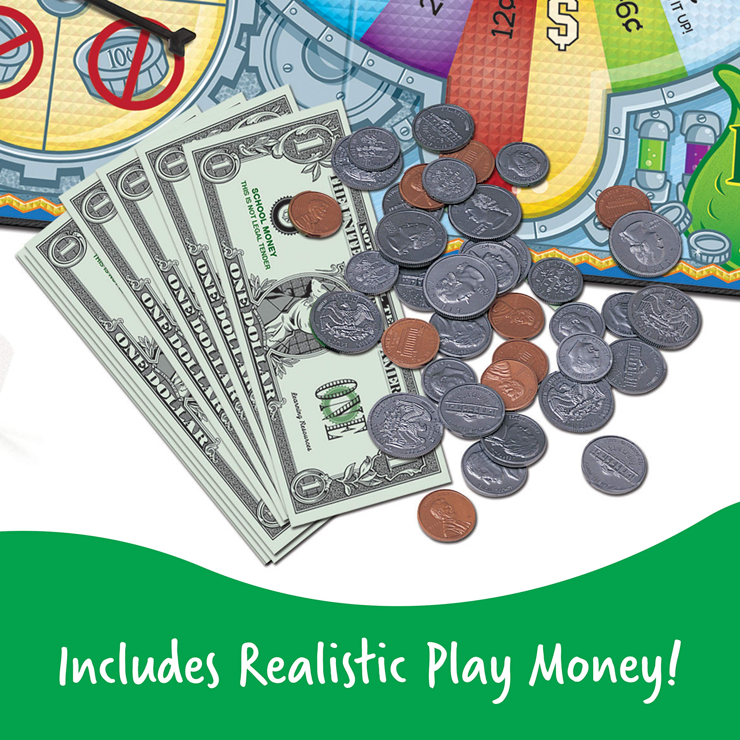 Learning Resources Money Bags Coin Value Game, Money Recognition, Counting Game, Play Money for Kids, Ages 7+