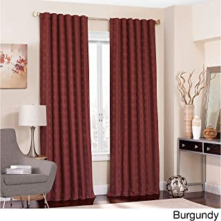 Eclipse Adalyn Thermalayer Blackout Window Curtain Panel Burgundy 52X95 95 Inches