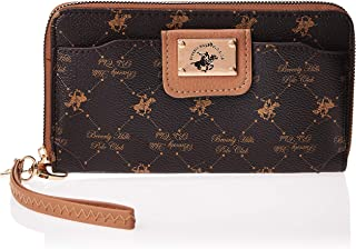 Beverly Hills Polo Club WB192VABN Wristlet for Women - Leather, Brown WB192VABN