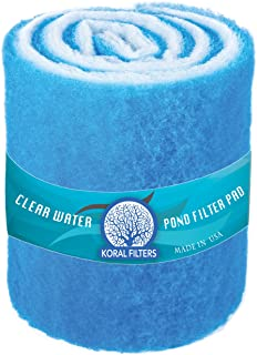 Koral Filters PRO Koi Pond Filter Pad Media Roll – Blue Bonded – 12 Inches by..