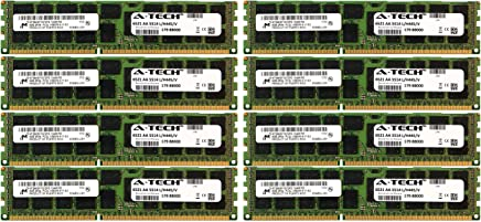 A-Tech Micron 64GB Kit 8X 8GB PC3-10600 1.35V for HP ProLiant DL380 G7 DL380P G8 DL385P G8 DL560 G8 713985-B21 DL580 G7 DL585 G7 DL980 G7 ML330 G6 ML350E G8 ML350P G8 WS460c G8 BL460C G7 Memory RAM