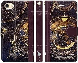 iPhone8 iPhone7 手帳型 ケース カバー 月の魔法書 よう かわいい 魔法 宇宙 星 本 月 天体