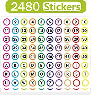 Best 2 number stickers Reviews