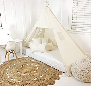 Domestic Objects Handmade Cotton Play Tent Canopy. Great for Toddler Transition to Big Bed - Twin No Doors