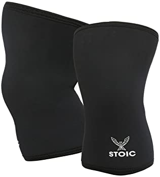 Stoic Knee Sleeves for Powerlifting - 7mm Thick Neoprene Sleeve for Bodybuilding, Weight Lifting Best for Squats, Cro...