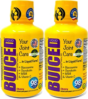 BUICED Liquid Joint Care | 2-Pack | Liquid Glucosamine, Chondroitin, MSM & Hyaluronic Acid | Made with 100% Organic Aloe V...