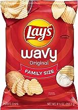 Wavy Lay's Potato Chips, Wavy Original, 10 Ounce