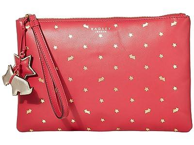 Radley London Regents Row Medium Zip Top Clutch (Raspberry Print) Clutch Handbags