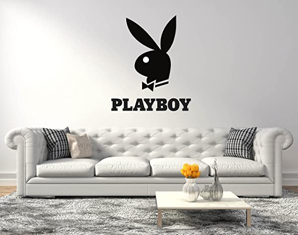 Playboy Bunny Logo Wall Decal For Home Living Room Or Bedroom Decoration Active Wide 20 X24 Height Inches