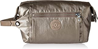 Kipling Women's Aiden Toiletry Bag, Essential Travel Accessory, Metallic Pewter