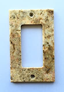 Scabos Travertine Switch Plate Cover Rocker - 2.75 X 4.5 IN