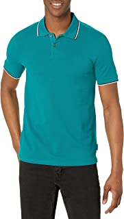 A|X Armani Exchange Men's Pique Polo, Ever Glade, M