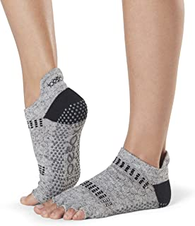 Toesox, Women's Low Rise Half Grip Non-Slip For Ballet, Yoga, Pilates, Barre Toe Socks Calcetines, Mujer