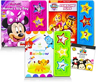 Sound Button Book Bundle Learning Books for Kids Toddlers - 3 Pack Sound Book Featuring Paw Patrol, Minnie Mouse, Disney B...