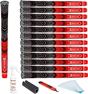 SAPLIZE Golf Grips Set of 13 Midsize Complete Regripping Kit All Weather Multi Compound Cord Rubber Golf Club Grips