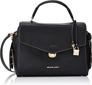 Michael Kors Womens Lenox Satchel Black (Black)
