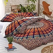 GOPALI CRAFT Indian Handmade Mandala Duvet Cover Bohemian Doona Quilt Cover Bedding Set King/Queen/Full Size (King (108X108))