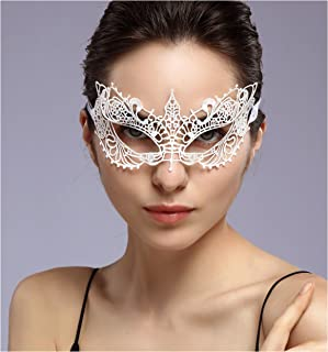 duoduodesign Exquisite Lace Masquerade Mask (White/Venetian/Soft Version)