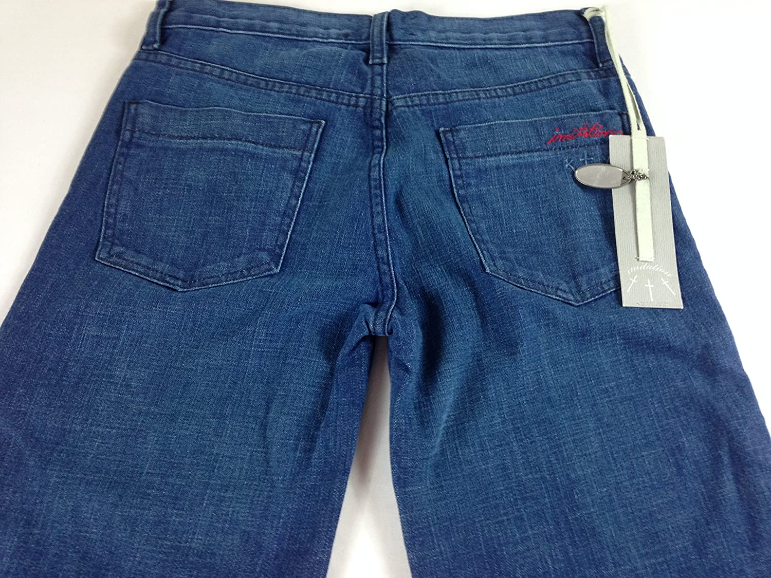 Imitation Of Christ Jeans Womens 27 28 Tall Long Dark Hunger Project 31 x 34.5 Actual