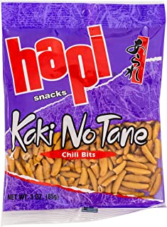 Hapi Chili Bits Rice Crackers, 3-Ounce Bags (Pack of 12)